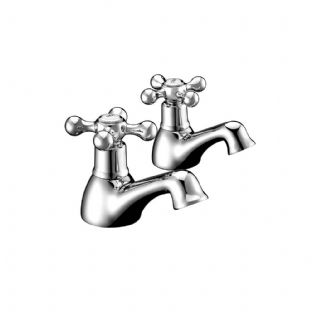 Arley 237EVIC02-N Victorian Bath Pillar Taps